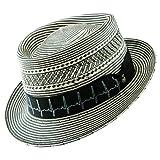 Santana Men's Two Tone Shantung Pork Pie Hat XL Black