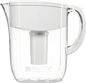 Brita 35509 Everyday water pitcher, 1-pack, Clear/White