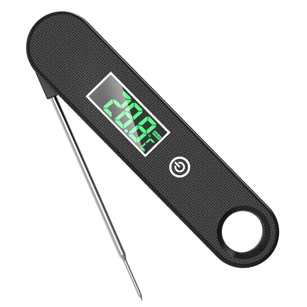 Meat Thermometer for Cooking LED Display, Digital Outdoor Thermometer Instant Read for Grilling Oven Adults Food Candy Turkey BBQ Milk Water...