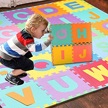 Mother & Kids 36 Pcs Childrens Puzzle Mat Digital Letter Educational Foam Cushion Cold-proof Environmentally Friendly Baby Crawling Mat