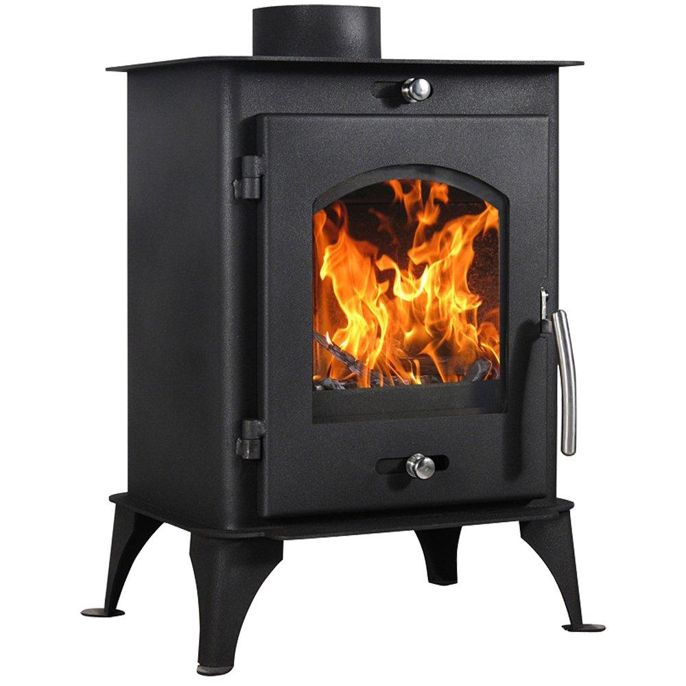 lincsfire Nettleham 7,56 kW moderno quemador de leña Multifuel estufa de leña diseño de chimenea: Amazon.es: Hogar