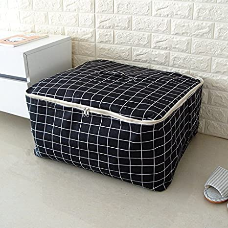 The Number 49 * 40 * 24Cm Pack Your Bags Duffel Bag Quilt Bag Clothes Bag Canvas Pouch CUPWENH The Large Quilt Black Grid