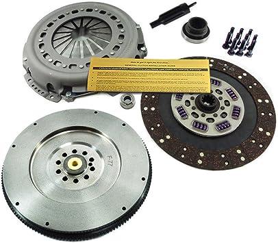 Amazon Com Eft Clutch Kit Hd Flywheel 94 97 For Ford F Superduty F250 F350 F59 7 3l Powerstroke Automotive
