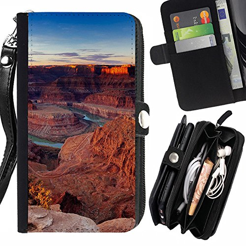 Peach Tech Flip PU Leather Wallet Pouch Protective Skin Case Cover Credit Card Slots for LG K4 LTE / LG Spree K120 / Optimus Zone 3 / VS425 / Basin