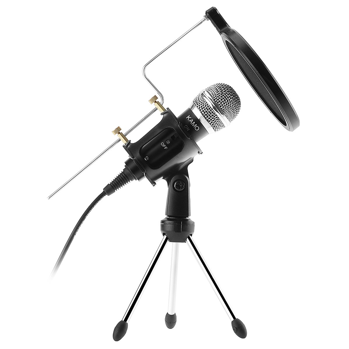 Kamo Professional Condenser Microphone Recording with Stand for PC Computer iphone Phone Android Ipad Podcasting, Online Chatting Mini Microphones