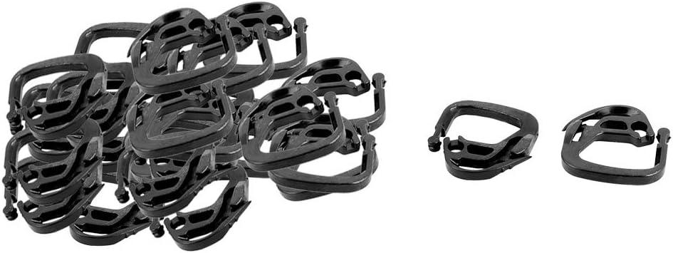 uxcell Plastic Home Garden Yard Net Mesh String Connecting Hanger Hook Buckle 25pcs Black