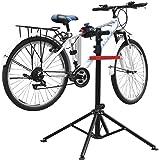 amzdeal Supporto Cavalletto per Bicicletta 115-170CM Riparazione Manutenzione Bici 4 Gambe capacità di Carico 50kg Girevole in 360° Bike Stand con Il Vassoio degli Attrezzi