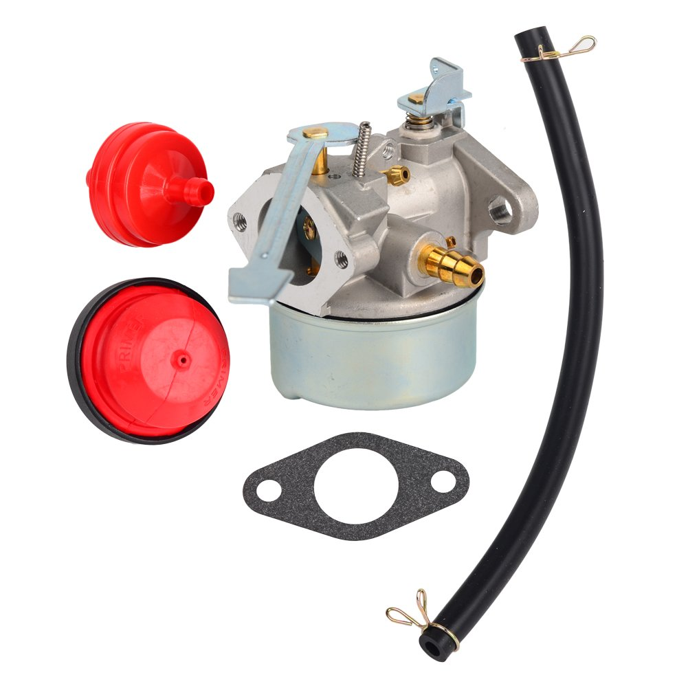Amazon.com : HIFROM Carburetor with Gasket Primer Bulb Fuel Filter Fuel  Line For Tecumseh 3HP 2 Cycle Snowblower 640098A Toro Craftsman MTD  Yardmachine Carb ...