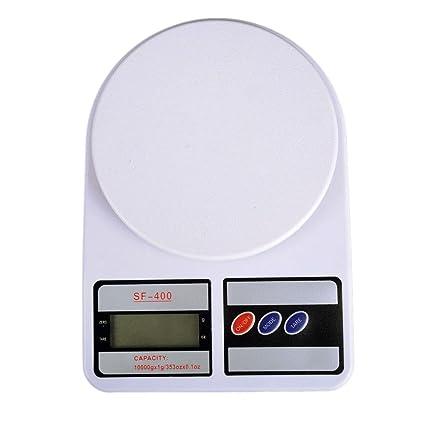 TOOGOO 10kg/1g Bascula de peso de alimentos de cocina digital electronica de precision Herramienta