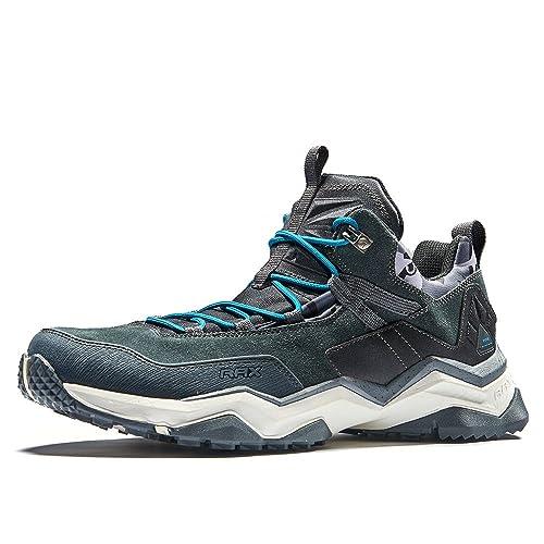 Rax - Zapatillas de senderismo de Ante para hombre: Amazon.es: Zapatos y complementos