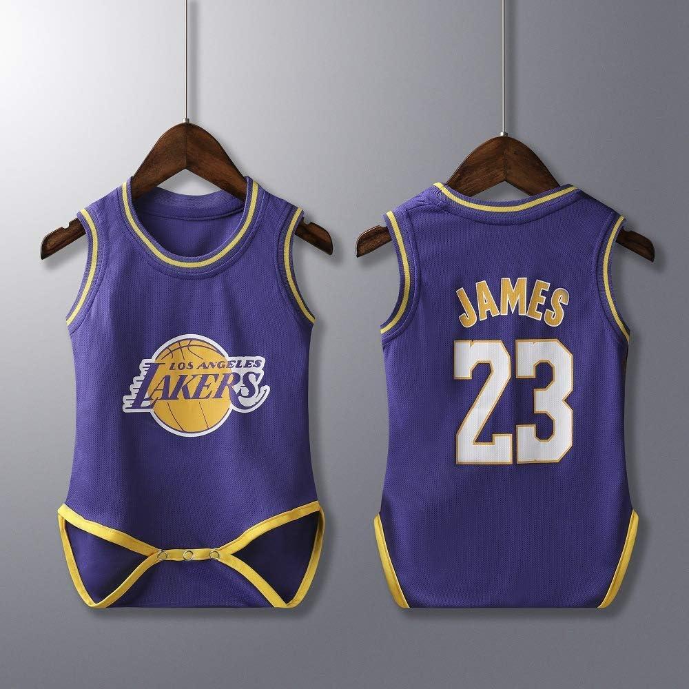 6-30 Mesi NBA Jordan 23//Curry 30//James 23//Irving 11 Maglia da Basket Senza Maniche Body Neonata Bambino Bambina Tutina Pagliaccetto Playsuit Estate Tuta da Vestito Body Unisex