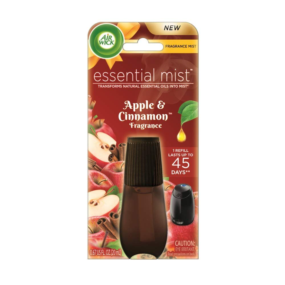 Air Wick Essential Oils Diffuser Mist Refill, Apple & Cinnamon, 1 Count Reckitt Benckiser