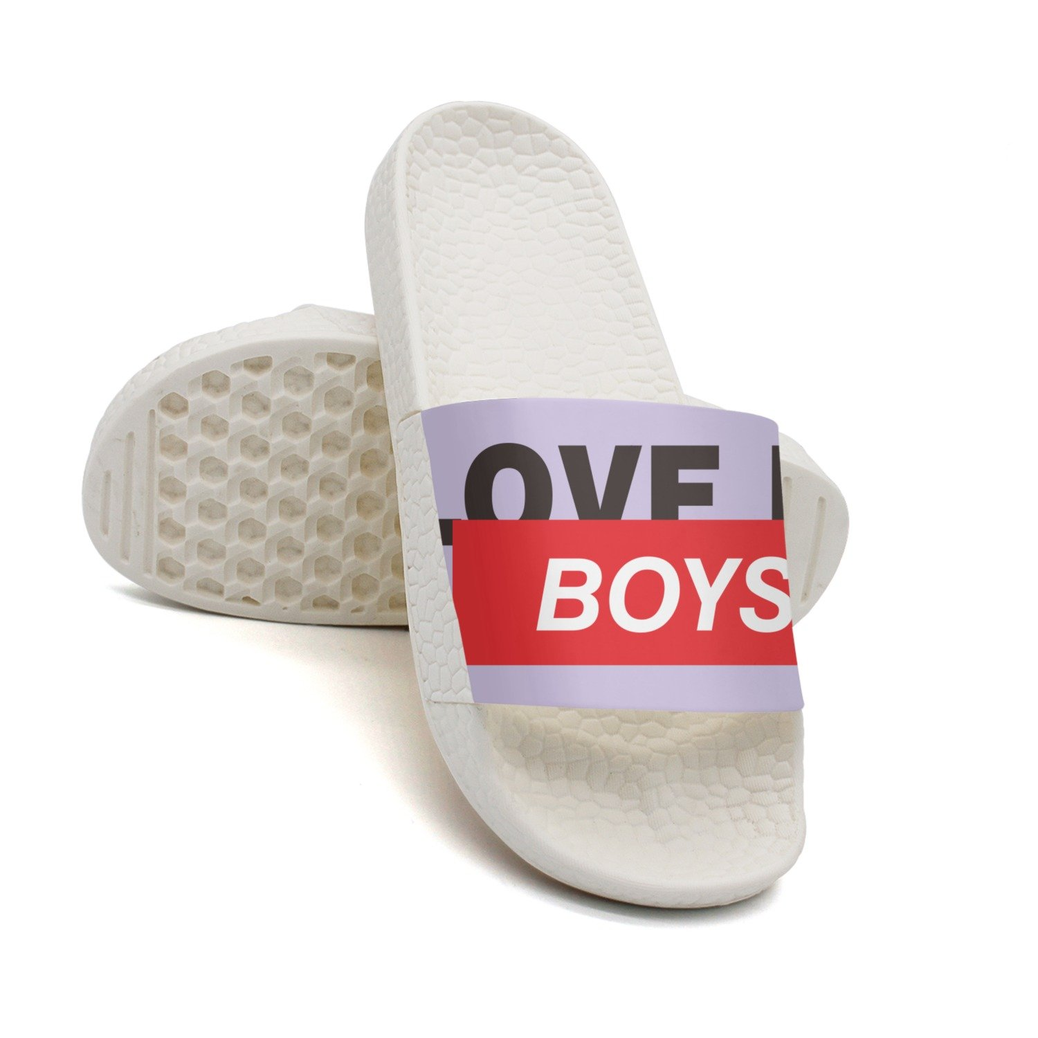 GKEPJYVCK Love My Boys Mothers Day Mom Mens Flip Flops Low Top Classic White
