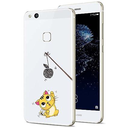 Huawei P10 Lite Funda, ocketcase® TPU Carcasa Suave Silicona Flexible Gel Funda Resistente a los Arañazos Tapa Protectora Case Cover para Huawei P10 ...