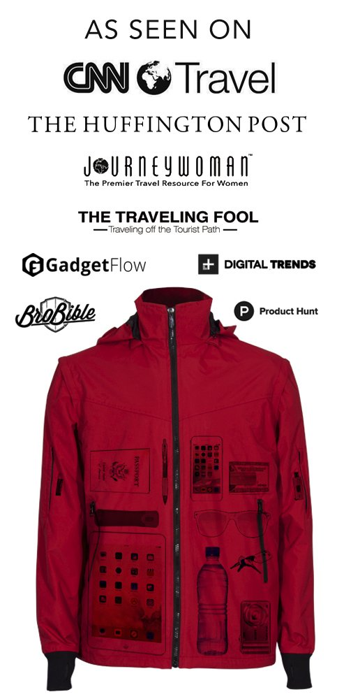 Joey Travel Jacket with Hidden Pockets. (Medium, Blue) by Global Travel Clothing (Image #4)