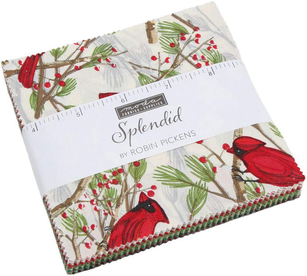 Splendid Charm Pack by Robin Pickens; 42-5 Inch Precut Fabric Quilt Squares