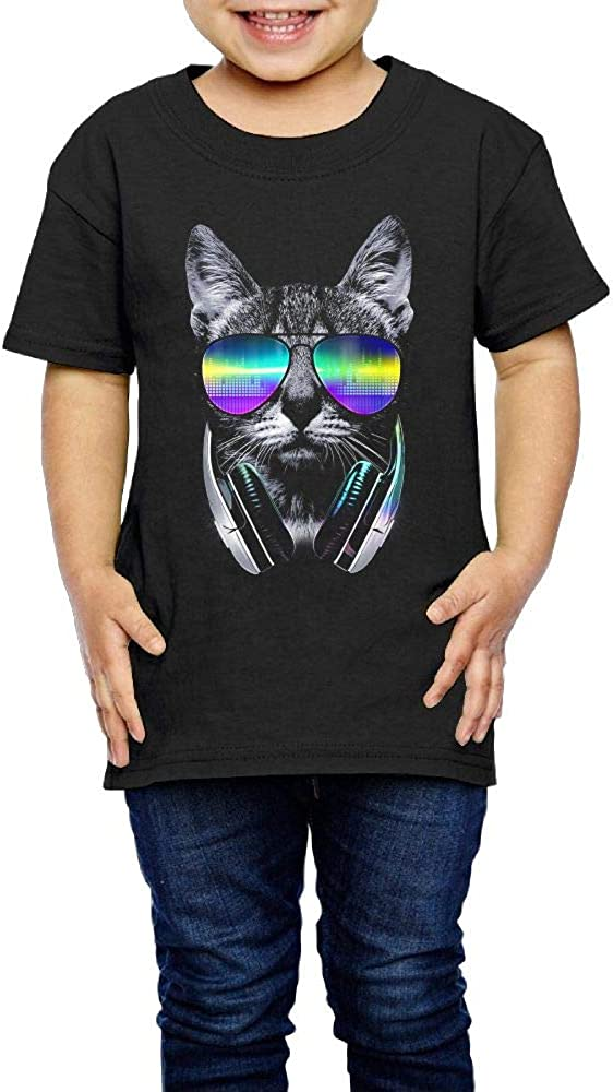 Music Lover Cat 2-6 Years Old Child Short-Sleeved Tee Shirts