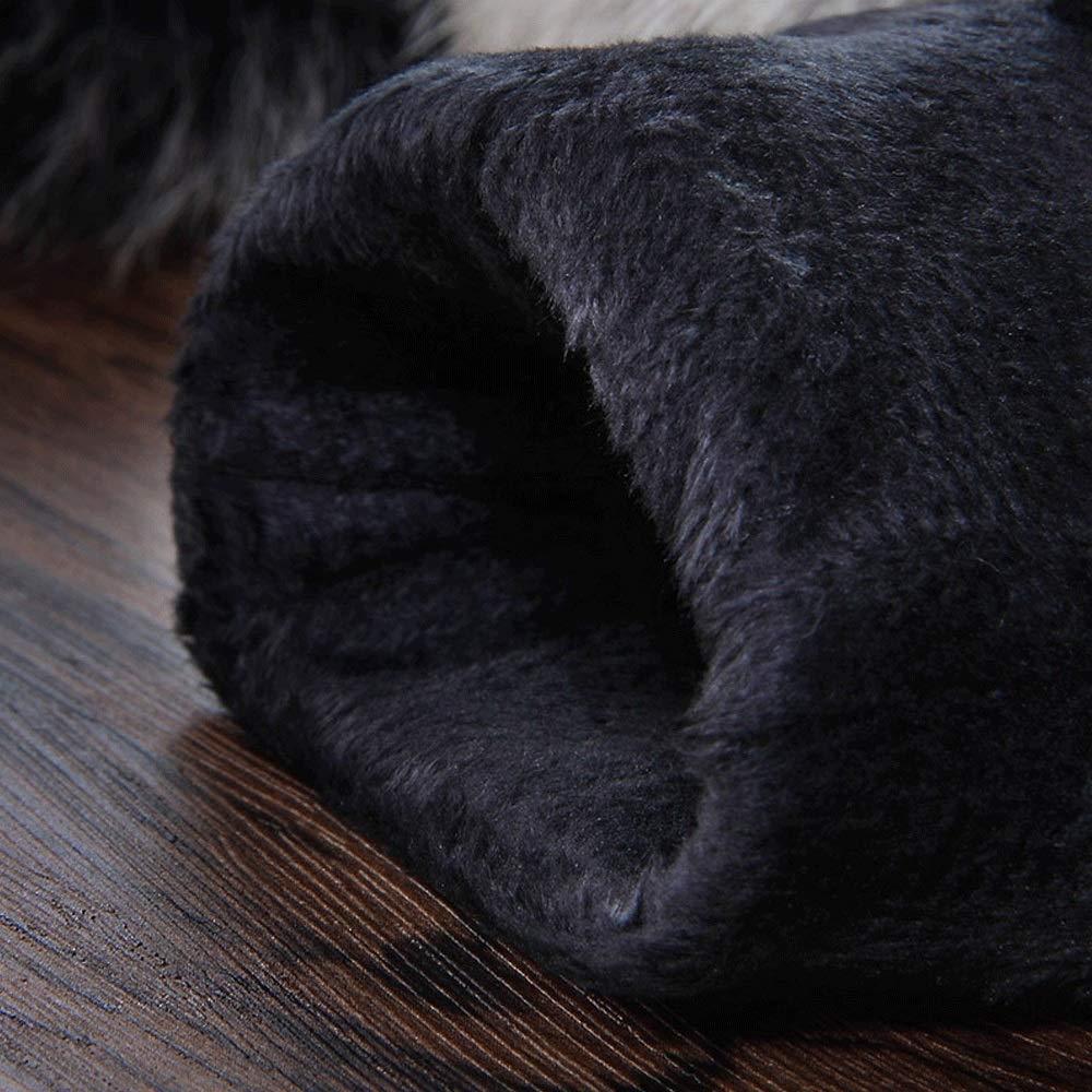 XWCPDM Leder Herbst Und Winter Im Freien Reiten Touchscreen Schaffell Sowie Samt Warme Winddichte Lederhandschuhe Fahren Lederhandschuhe Bekleidung Color : Black, Size : L