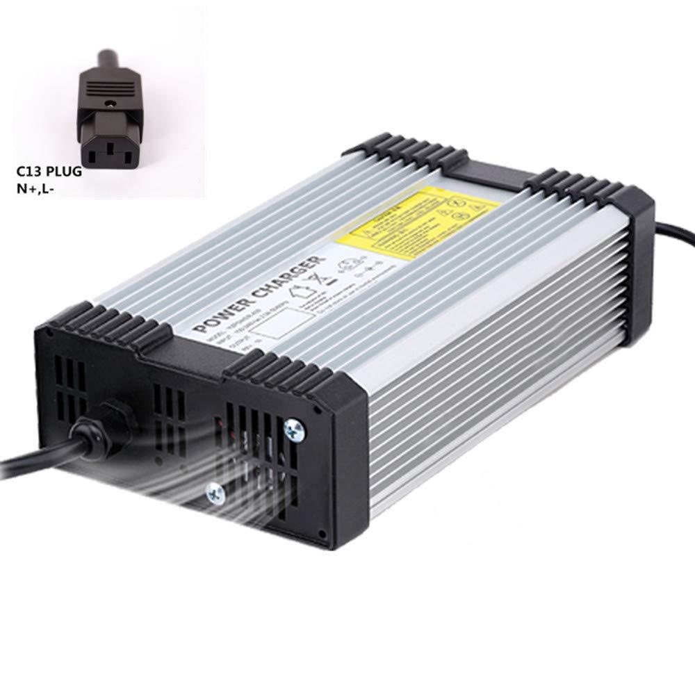 YZPOWER 67.2V 5A Cargador de batería de Litio para 16S 60V Li-Ion Lipo Batería Herramienta eléctrica con Enchufe C13