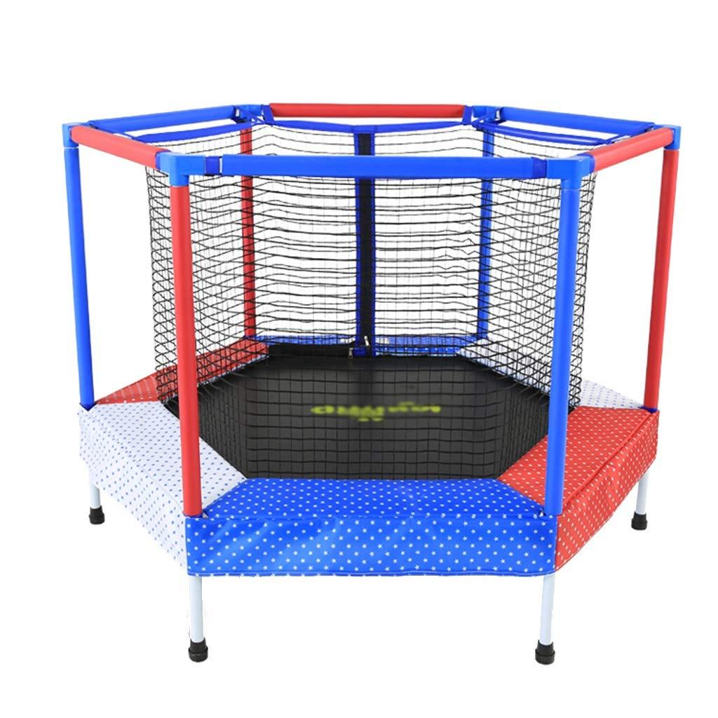 Trampoline Net Heimtrampolin Spielzeug Fitness 50 kg tragen (Farbe : Blau, Größe : 122  122  87cm)