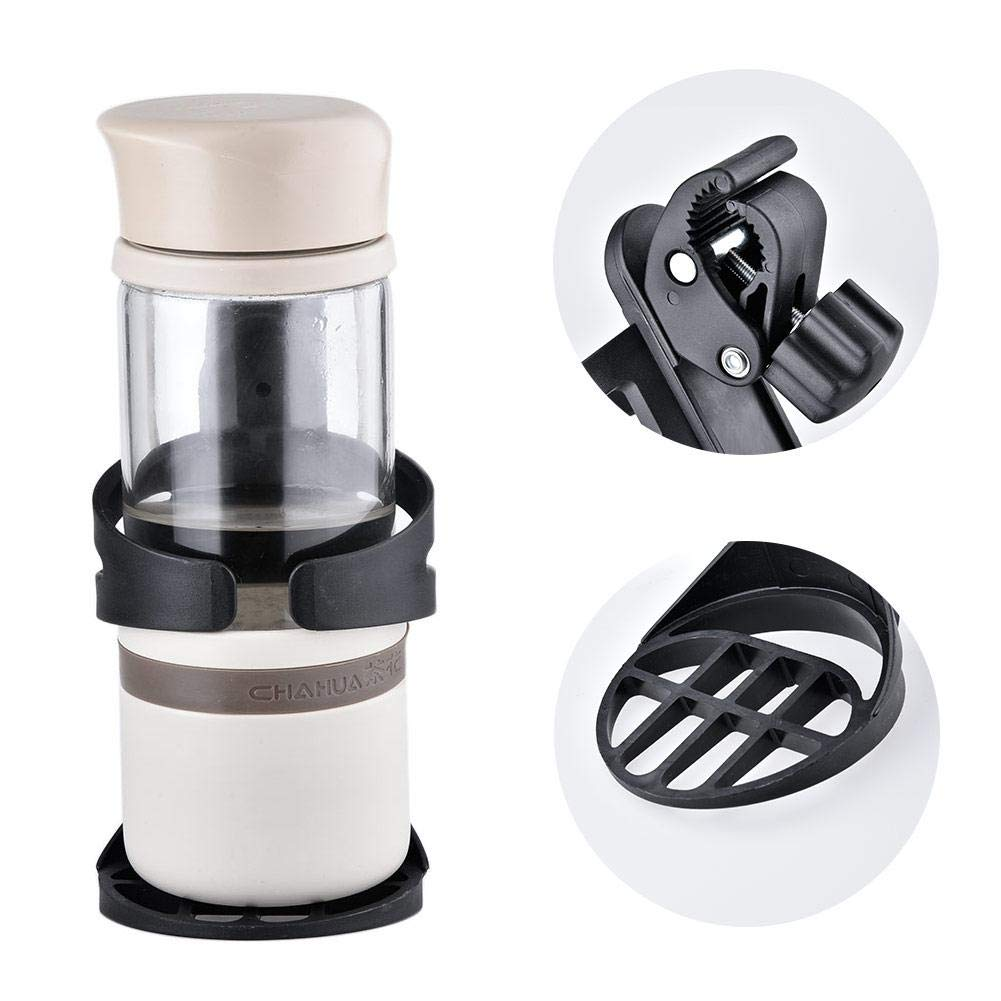 Mountain Bike and Wheelchair AUVSTA Wheelchair Cup Holders Cup Holder 360 Degrees Universal Pushchair Bicycle Strollers Bike ProCIV Bike Cup Holder fits Baby Stroller Black