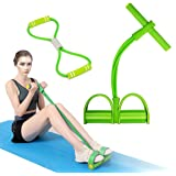 KINSPORY Home Workout Body Building, Yoga Fitness Sit-up Pull Resistance Foot Pedal with Exercise Resistance Band
