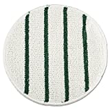 Rubbermaid Commercial RCP P271 Low Profile Scrub-Strip Carpet Bonnet, 21'' Diameter, White/Green