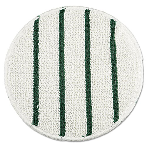 Rubbermaid Commercial RCP P271 Low Profile Scrub-Strip Carpet Bonnet, 21'' Diameter, White/Green by Rubbermaid Commercial