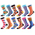 WeciBor Men's Colorful Funny Novelty Crazy Combed Cotton Casual Socks Packs