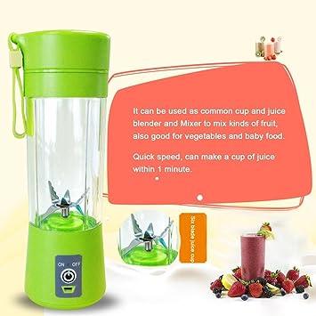 ShepoIseven - Exprimidor de Frutas eléctrico con Mini USB, Recargable, 400 ml, batidora y exprimidor de Frutas: Amazon.es: Hogar