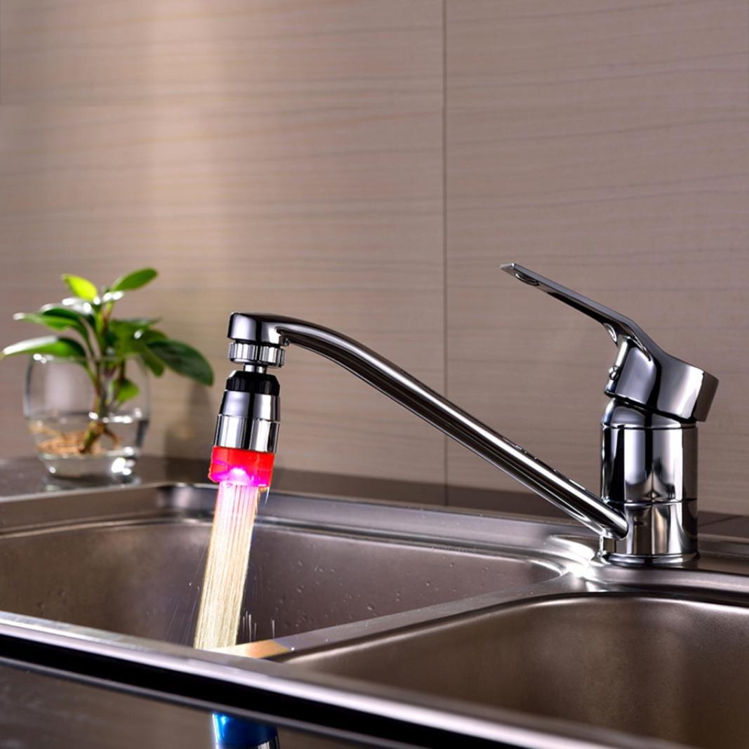 Hunpta Küche Spüle Temperatur Änderung Wasser Leuchten Wasser Dusche ...