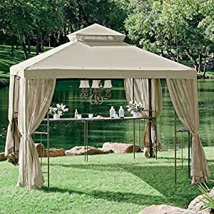 Open box replacement canopy and netting for - Small gazebo with netting ...