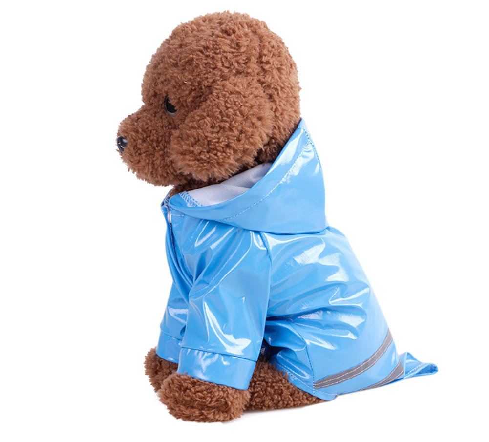 Dog Raincoat TOPSUNG Pet Poncho with Hood Waterproof Rain Coat Jacket for Small Dogs