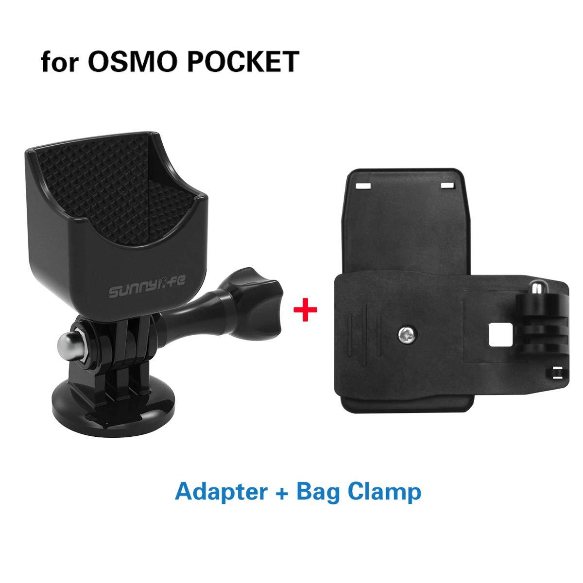 1/4インチねじアダプターマウントスタンドホルダー+バックパックショルダーストラップクリップクランプセット Darkhorse多機能拡張 DJI Osmo Pocket ハンドヘルドジンバルカメラに対応 B07MV5PR67
