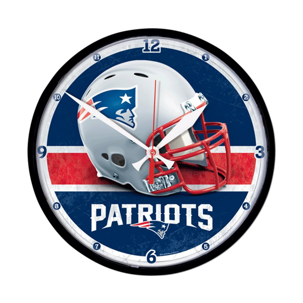 Amazon new england patriots official nfl clock by wincraft amazon new england patriots official nfl clock by wincraft sports outdoors amipublicfo Gallery