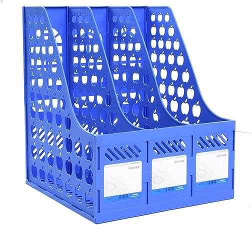 Bandejas de Documentos Caja de Almacenamiento Transparente Caja de Relleno de Papel de documento de plástico Transparente Caja de Archivo A4 (Color : J): Amazon.es: Hogar