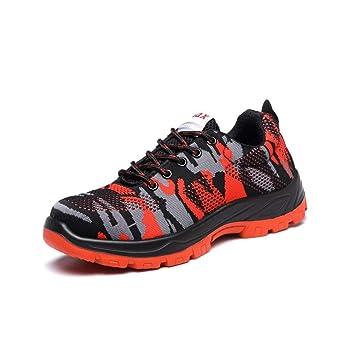 Adong Seguro Laboral Zapatos de Trabajo Seguridad Zapatos Hombres de Acero Dedo del pie construcción Botas para policía Militar Carretera Trabajadores ...