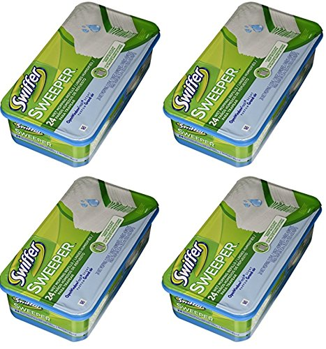 Swiffer Sweeper Wet Mopping Cloth Refill - Open Window Fresh - 24 ct (4 Pack) by Swiffer