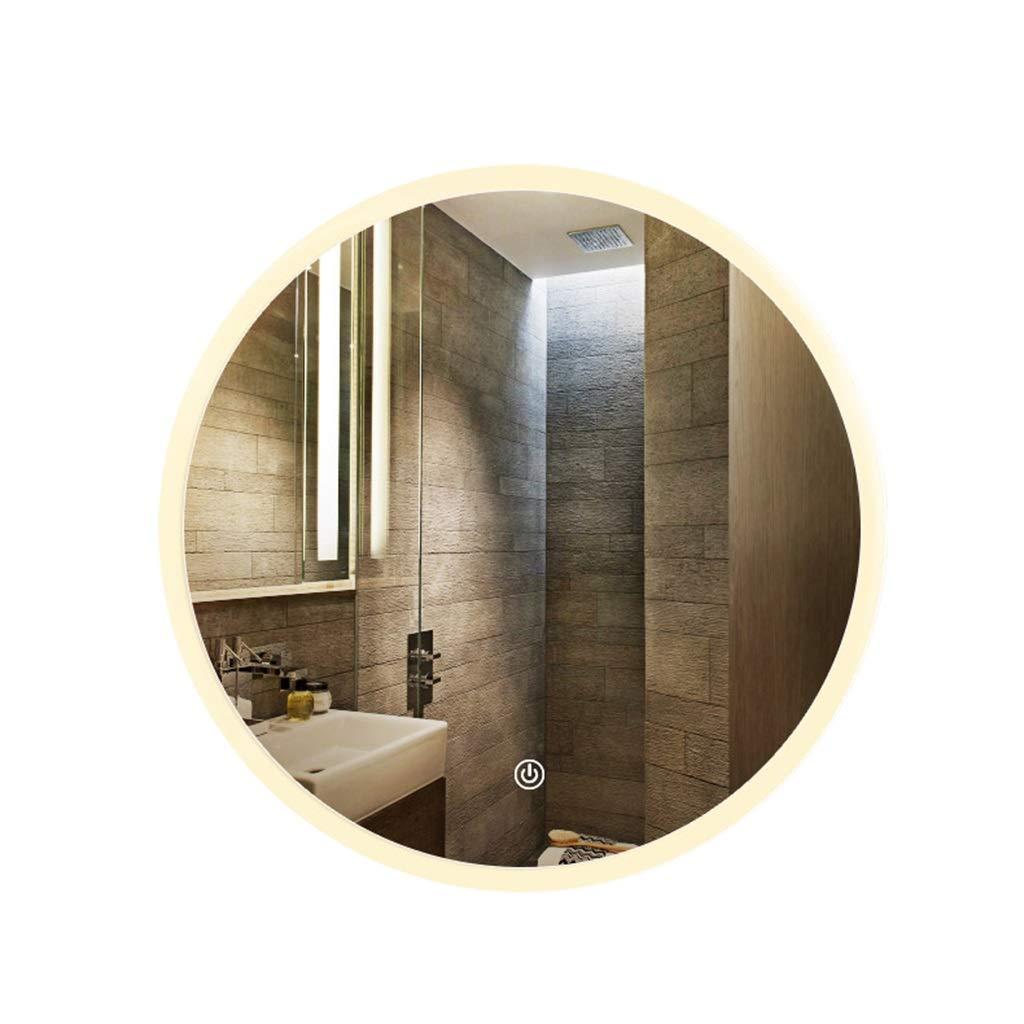 Yellow 70cm JTWJ LED Light Mirror, Bathroom Mirror, Wall Mirror, Bathroom Mirror, Bathroom Mirror, Smart Mirror, Round Mirror (color   Yellow, Size   70cm)
