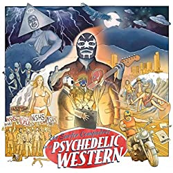 Los Surfer Compadres in a Psychedelic Western