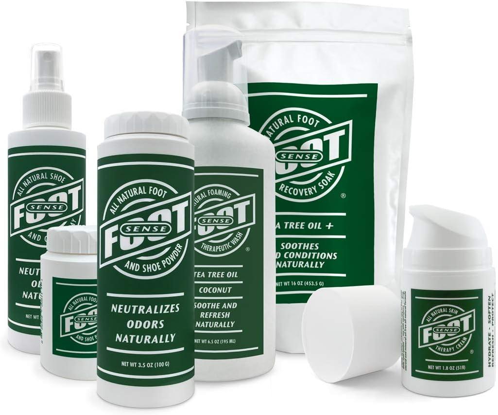 FOOT SENSE Bundle - FOOT SENSE All Natural Foot and Shoe Powder 3.5 oz & FOOT SENSE All Natural Shoe and Gear Spray 5 oz - Odor Fighting Combo: Electronics