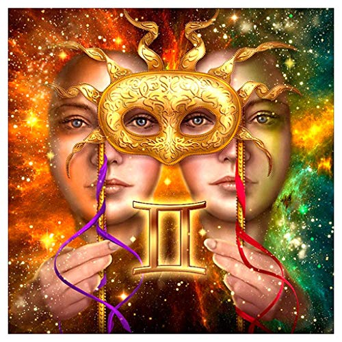 Yeefant Two-Face God of Wealth Diamond Painting Sets for Adults, Full Drill 5D DIY Embroidery Paintings Cross Stitch Rhinestone Paintings for Home Wall Decor Art Craft Supplies 30x30cm]()