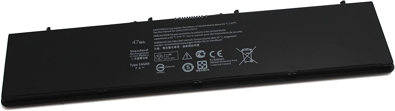 Gomarty New Latitude 14 7000 Series E7440 Battery for Dell 34GKR 3RNFD F38HT T19VW PFXCR KWFFN 451-BBFV 451-BBFW 451-BBFX NCVF0 G0G2M GVD76 V8XN3 WD52H HJ8KP