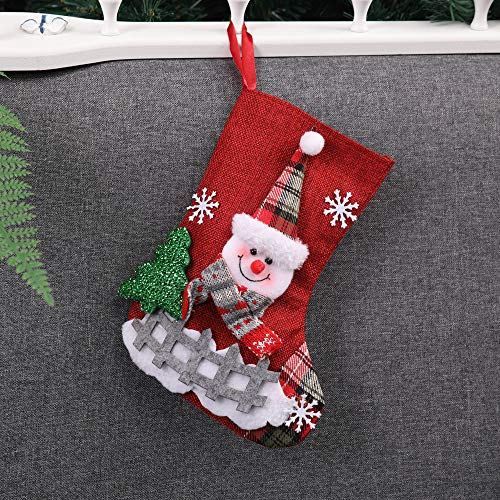 (Chenway Merry Christmas Santa Stocking,Xmas Tree Decoration Ornaments Home Garden Decor Sock Gift Candy Bags)