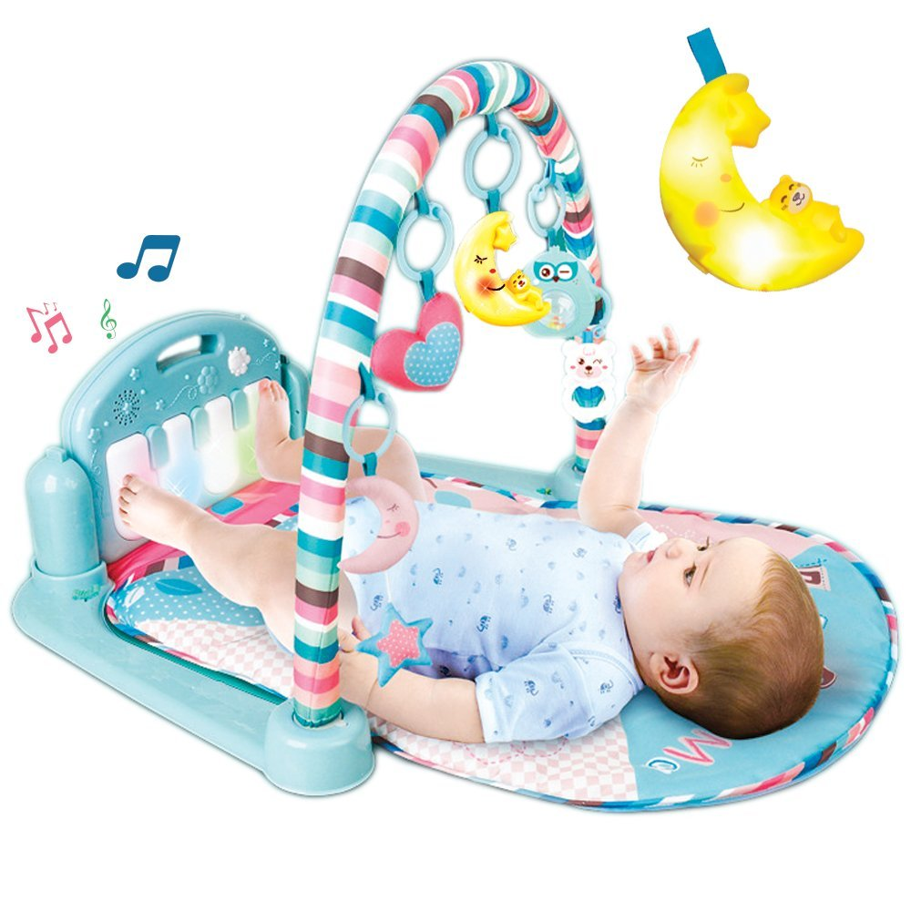Upgrade Improve Baby Brain Develop Skill Learn and Play Musical Infant Activity Mat Kick Piano Light and Sound Aroma Trees