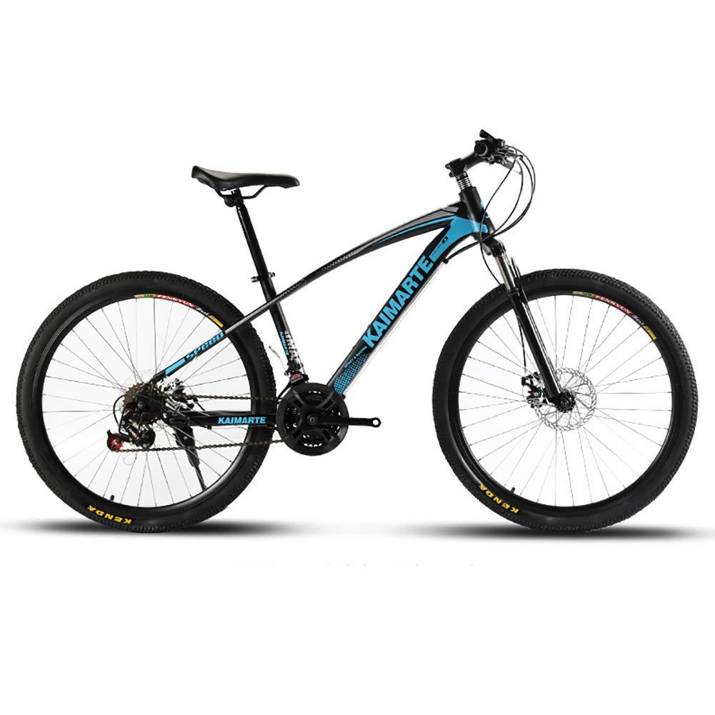 azul FJW Unisexo Bicicleta de montaña de suspensión 24 Pulgadas Estructura de Acero con Alto Contenido de Carbono 21 24 27 Velocidad con Frenos de Disco,blanco,21Speed 21Speed