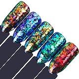 BORN PRETTY 0.2g Holographic Powder Confetti Chameleon Cloud Paillette Irregular Nail Art Glitter Sequins flakies 5 Colors