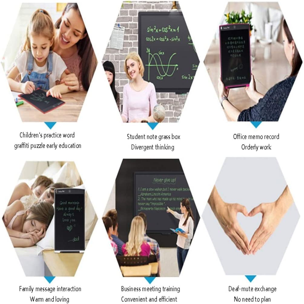 JUZXAAP 8.5 Inch LCD Tablet Business Memo Graphics Tablet Childrens Drawing Board Writing Board Family Memo Board