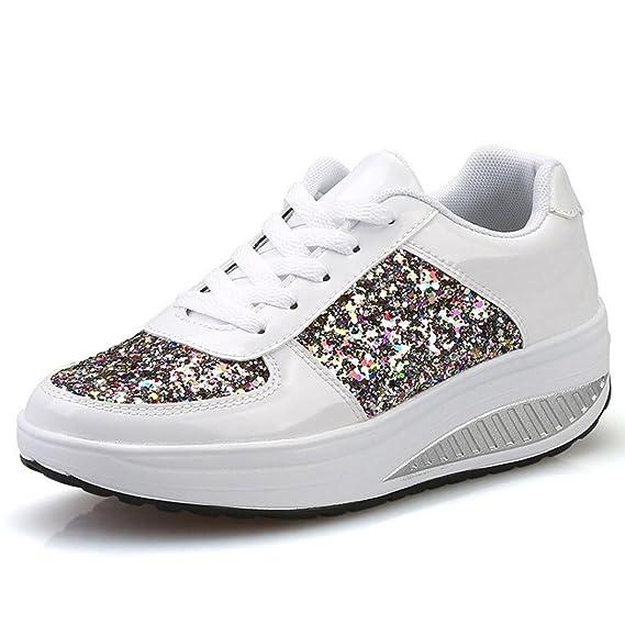 Zapatos de mujer, ❤️Amlaiworld Zapatos planas de mujer Calzado Moda Zapatillas de cuña para mujer Zapato deportivo para niñas zapatos para correr Señoras ...