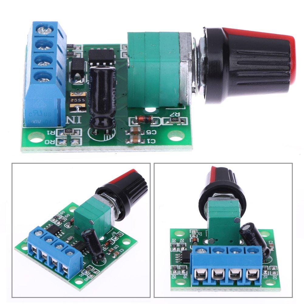 Rrimin Low Voltage Motor Speed Controller Dc 18v 3v 5v 6v 12v 2a Electronics Technology 5vdc To 12vdc Lt1070 Boost Converter Circuit 125053 Garden Outdoors